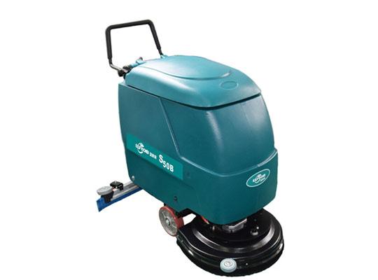 手推单刷式洗地机