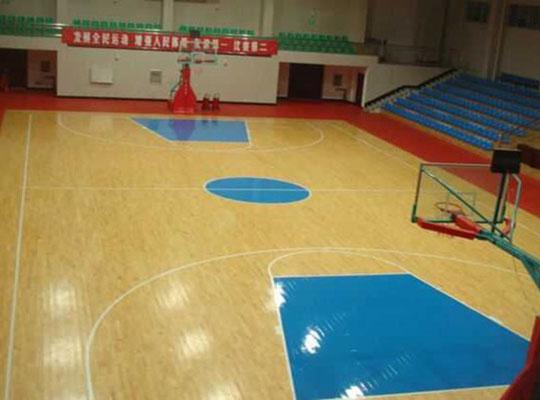 优宝PVC篮球场地坪