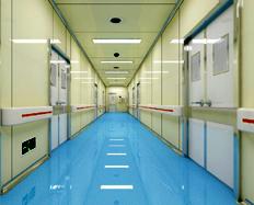 优宝医院走廊地板施工案例