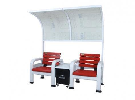 铝合金红色休息椅带遮阳棚BM-1005(H)