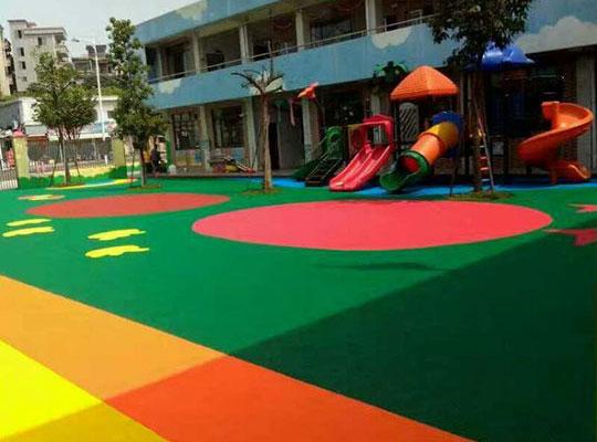 幼兒園彩色地板施工案例