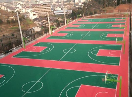 湖南新晃篮球馆