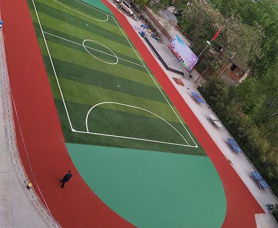 安康市汉滨区大升多伦实验学校透气型跑道