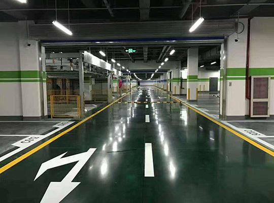 三鼎华悦大酒店-地下停车场固化地坪