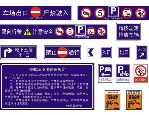 停車場標志牌