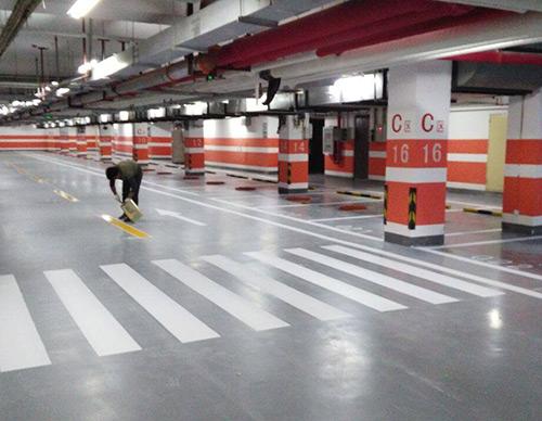 停車場墻柱面涂裝