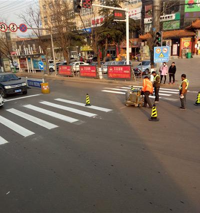 三门峡义马市道路划线施工