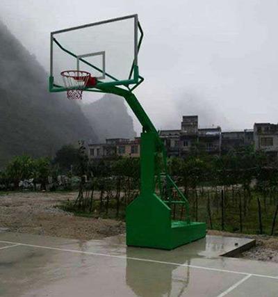 百色靖西使用健宁体育高桶篮球架