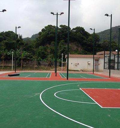 珠海最新场地广生幼儿园丙烯酸球场完工
