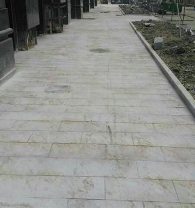 徐州沛县汉邦广场艺术压模地坪施工现场