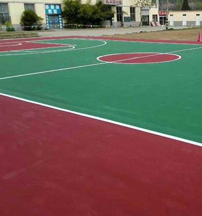 徐州博通学校亚克力篮球场地面施工