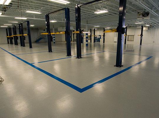 环氧树脂地坪漆形成表面斑点的原因