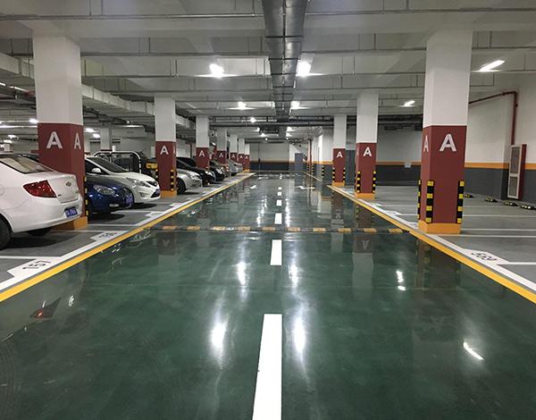 停车场染色混凝土密封固化剂地坪