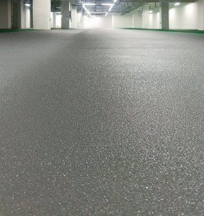停车场通道橘皮皱面防滑地坪