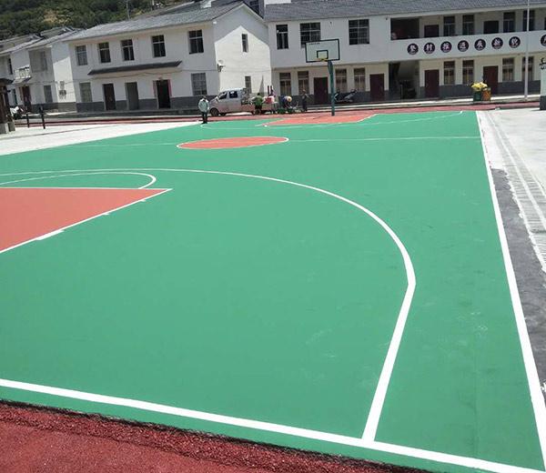 篮球场施工案例