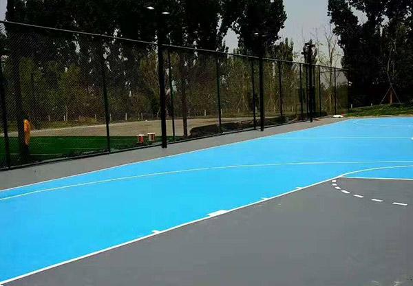 河北廊坊市香河县幸福公园硅PU球场