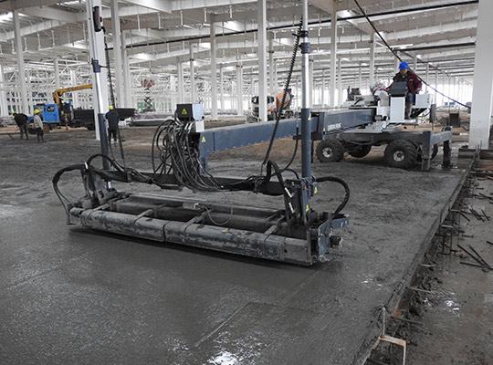 混凝土激光整平一体化施工