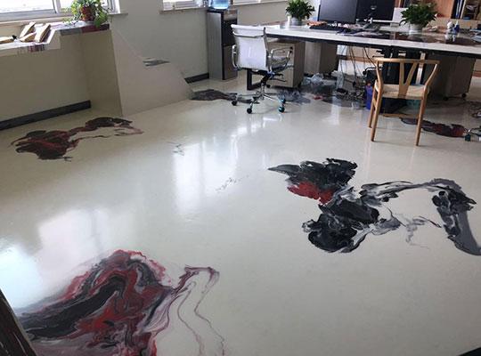 艺术泼墨地坪