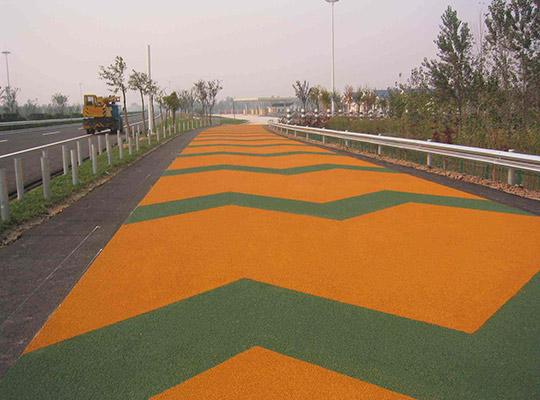 彩色陶瓷颗粒路面