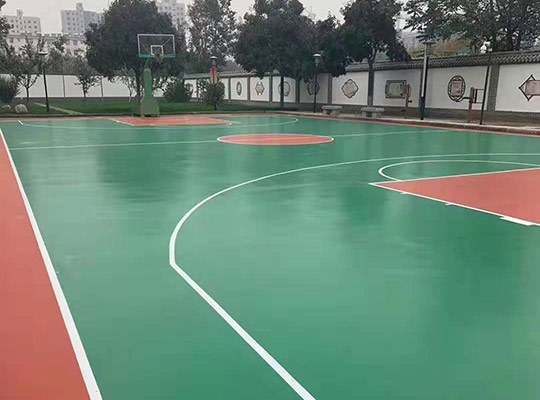 涉縣中學硅PU彈性球場