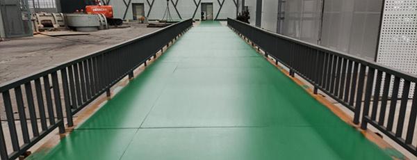 安鋼集團環氧超耐磨地坪施工案例