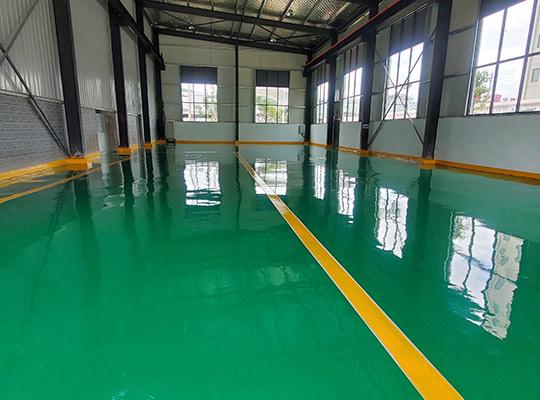 云南大理江南特变电工厂房环氧树脂地坪项目