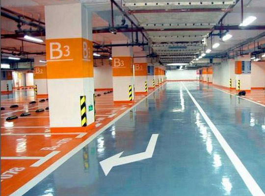 停车场地坪漆施工需要哪些条件作为支持