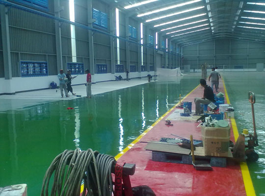 环氧地坪漆涂料施工有几个特殊要求