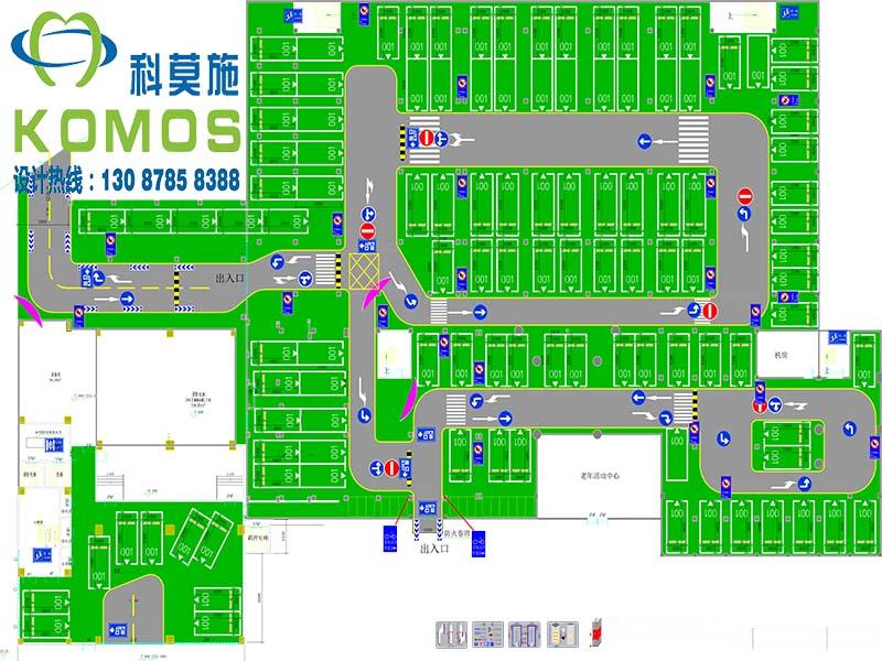 1,上海停车场车位优化设计 包含:标准车位,豪华车位,微型车位,无障碍图片